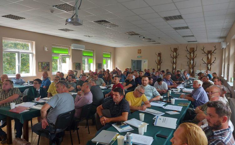 Szkolenia dla członków zarządów kół łowieckich z terenu Okręgu Bydgoskiego dotyczące pracy sekretarza koła